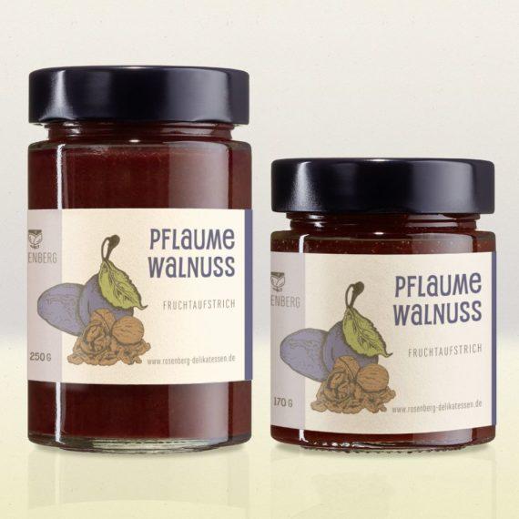Bio Pflaumenmus mit Walnüssen