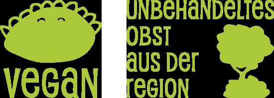 Produkte sind vegan von unbehandeltem Streuobst aus der Region Sachsen, Sachsen-Anhalt und Thüringen